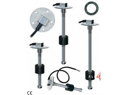 Nerezový snímač hladiny kapalin, jako je voda nebo palivo v nádrži, 10-180 Ohm