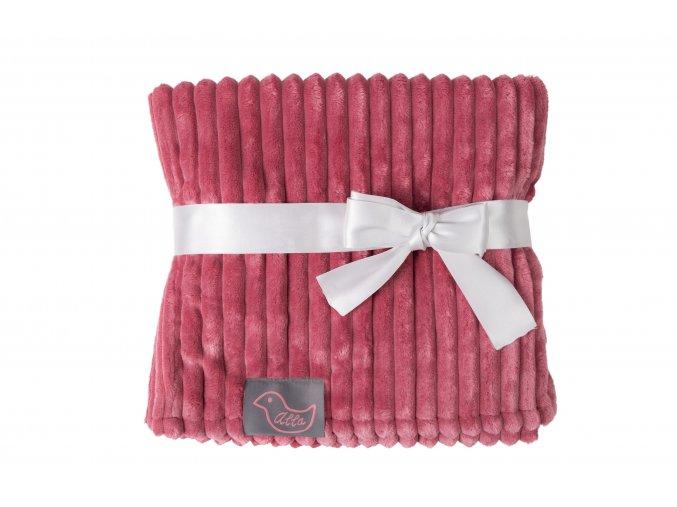 růžová deka