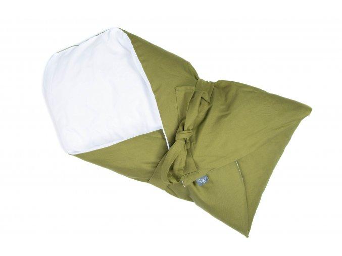 Péřová zavinovačka - zelená