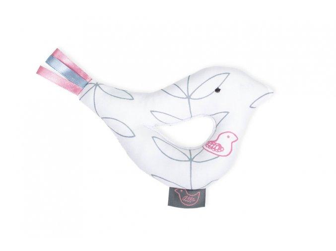 Růžový ptáček + hebká deka