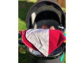 Letní růžová deka