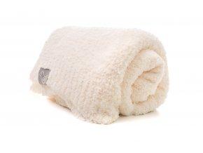 Luxusní deka ecru