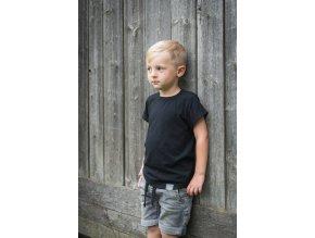 Basic - tričko černé dětské