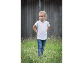 Basic - tričko bílé dětské
