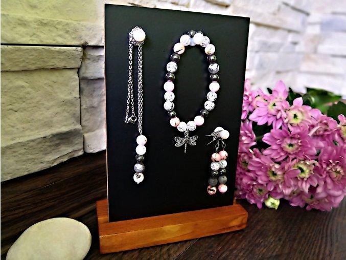 Stojánek na šperky + náramek ZDARMA