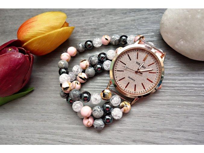 Romantic hodinky z přírodních minerálů