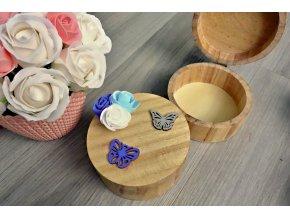 Dřevěná šperkovnice - kulatá