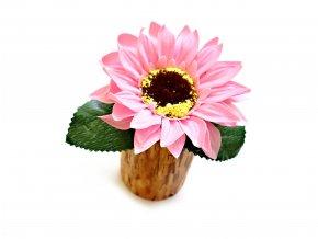 Mýdlová květina v dřevěné vázičce - 3 barvy