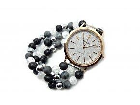 Side hodinky z přírodních minerálů