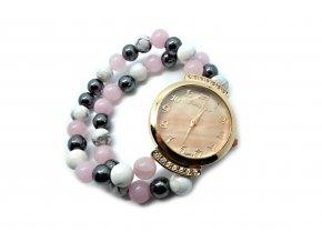 Lucera hodinky z přírodních minerálů