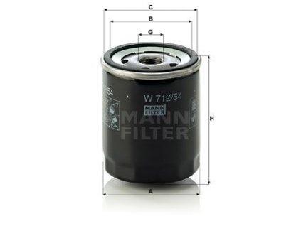 Olejový filtr Mann W712/54