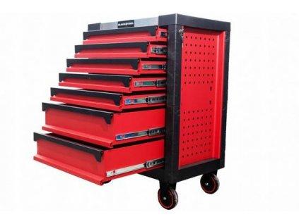 Dílenský vozík s kovovou deskou - bez nářadí