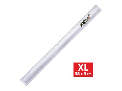 Pásek reflexní ROLLER XL 3x38cm S.O.R. stříbrný
