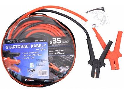 COMPASS Startovací kabely 35 4,5m TÜV/GS DIN72553