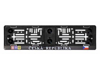 COMPASS Podložka pod SPZ s nápisem ČR a erby