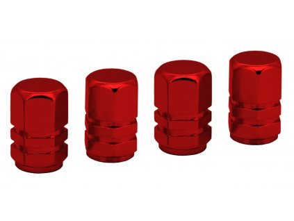 COMPASS Ozdobné kryty ventilků červené 4ks