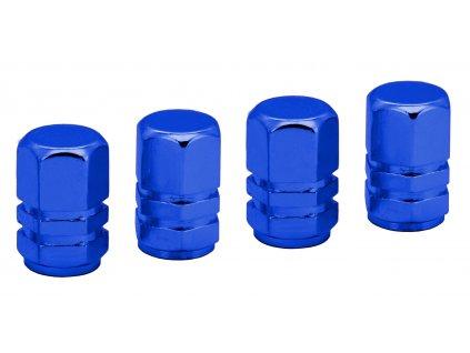 COMPASS Ozdobné kryty ventilků modré 4ks