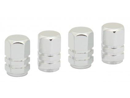 COMPASS Ozdobné kryty ventilků stříbrné 4ks