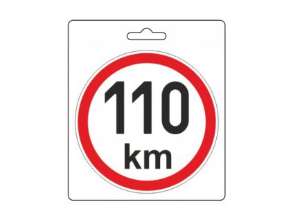 Samolepka omezená rychlost 110km/h (110 mm)