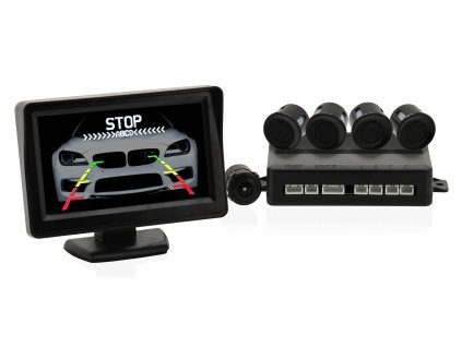 Parkovací asistent 4 senzory + zadní kamera Compass 33604