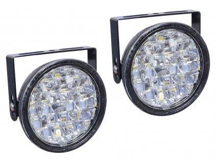 Světla denního svícení kulatá 18LED 12V COMPASS