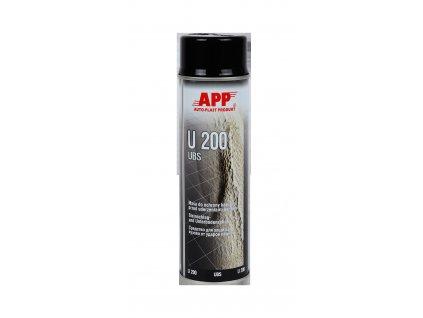 APP U200 nástřik podvozku černý 500ml