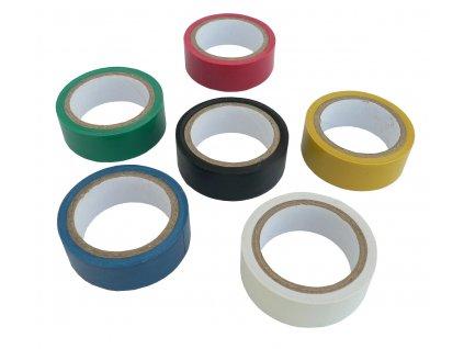 Izolační páska barevná 18 mm x 6 m sada 6 ks