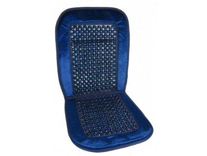 Potah sedadla kuličkový + velur modry