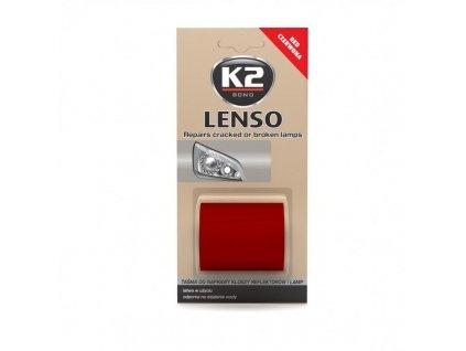 K2 LENSO opravná páska pro opravu světel - červená B342 - 4,8x150cm
