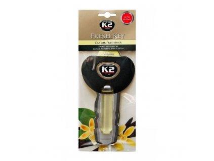 K2 FRESH KEY - osvěžovač vzduchu - vanilka 1 ks