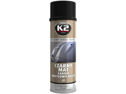K2 L340 K2 AKRYLOVÁ BARVA VE SPREJI ČERNÁ MATNÁ 500 ml