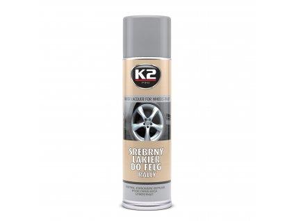 K2 SILVER LACQUER FOR WHEELS RALLY - stříbrný lak na kola, ochrana proti kor, L332 500 ml