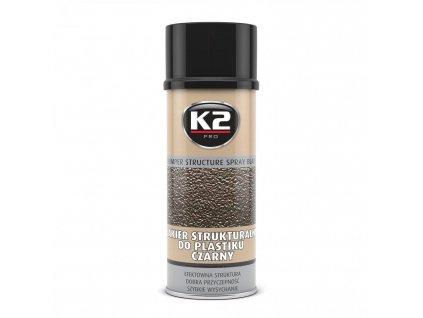 K2 BUMBER STUCTURE SPRAY barva na plasty - černá L345 400 ml