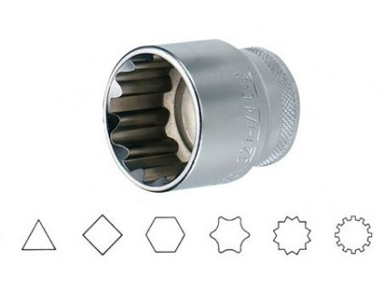 """Hlavice 1/2"""" multiprofilová 32mm Jonnesway SuperTech"""