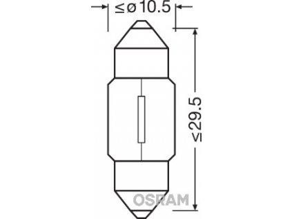ŽÁROVKA OSRAM 6438 C10W SV8,5-8 T10,5x31 12V 10W