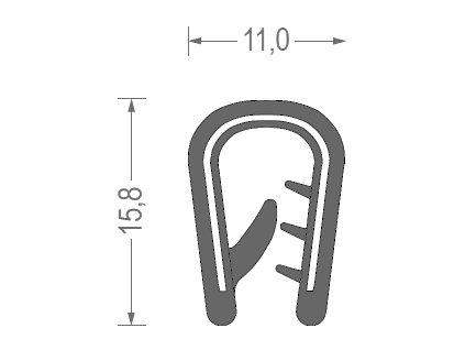 Těsnění kedr 4-6MM černá 1mb