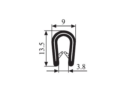 Těsnění kedr 1-3MM černá 1mb