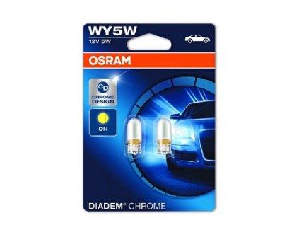 ŽÁROVKA OSRAM Diadem Chrome 2827DC-02B WY5W W2,1x9,5d 12V 5W - BLISTER 2KS