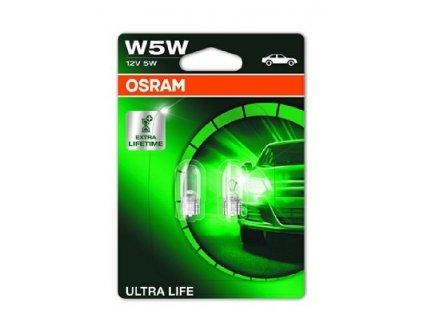 ŽÁROVKA OSRAM ULTRA LIFE 2825ULT-02B W5W W2,1x9,5d 12V 5W - BLISTER 2KS