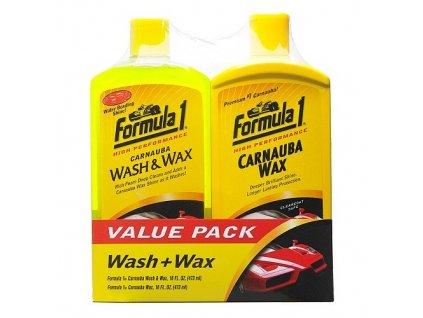 Formula 1 Autošampon a tekutý vosk v sadě  2x475 ml