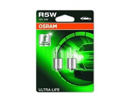 ŽÁROVKA OSRAM ULTRA LIFE 5007ULT-02B R5W BA15s 12V 5W - BLISTER 2KS