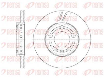 Kotouč brzdový 288X25 přední 6544 10 |  REMSA