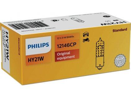ŽÁROVKA PHILIPS 12146CP HY21W BAW9s 12V 21W