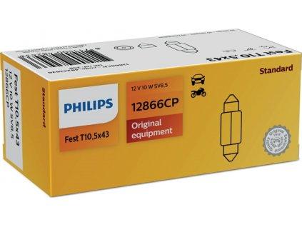 ŽÁROVKA PHILIPS 12866CP C10W SV8,5 T10,5x43 12V 10W