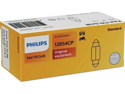 ŽÁROVKA PHILIPS 12854CP C10W SV8,5 T10,5x38 12V 10W