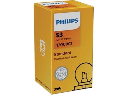 ŽÁROVKA PHILIPS 12008C1 S3 P26s 12V 15W