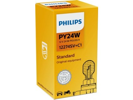ŽÁROVKA PHILIPS SILVER VISIO 12274SV+C1 PY24W PG20/4 12V 24W