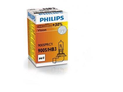 ŽÁROVKA PHILIPS VISION +30% 9005PRC1 HB3 P20d 12V 60W