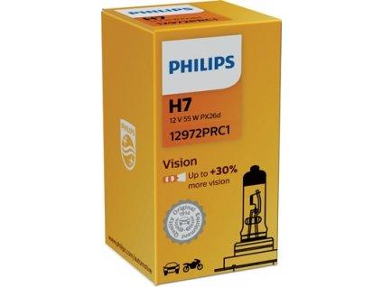 ŽÁROVKA PHILIPS VISION 12972PRC1 H7 PX26d 12V 55W