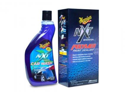 Meguiar's NXT Wash & Wax Kit - základní sada autokosmetiky pro mytí a ochranu laku